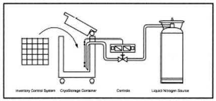 Схема оборудования криохранилища серии К